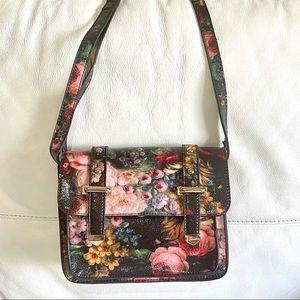 Sports Girl Vintage Floral Satchel Bag
